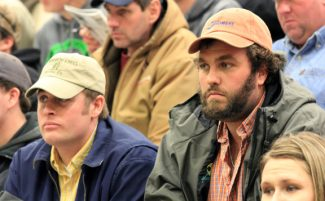 Courtesy photoCraig Schnabel, Parkston and Chris  Plamp, of Mitchell, SD purchased cattle at the Werning Cattle. Co. production sale.