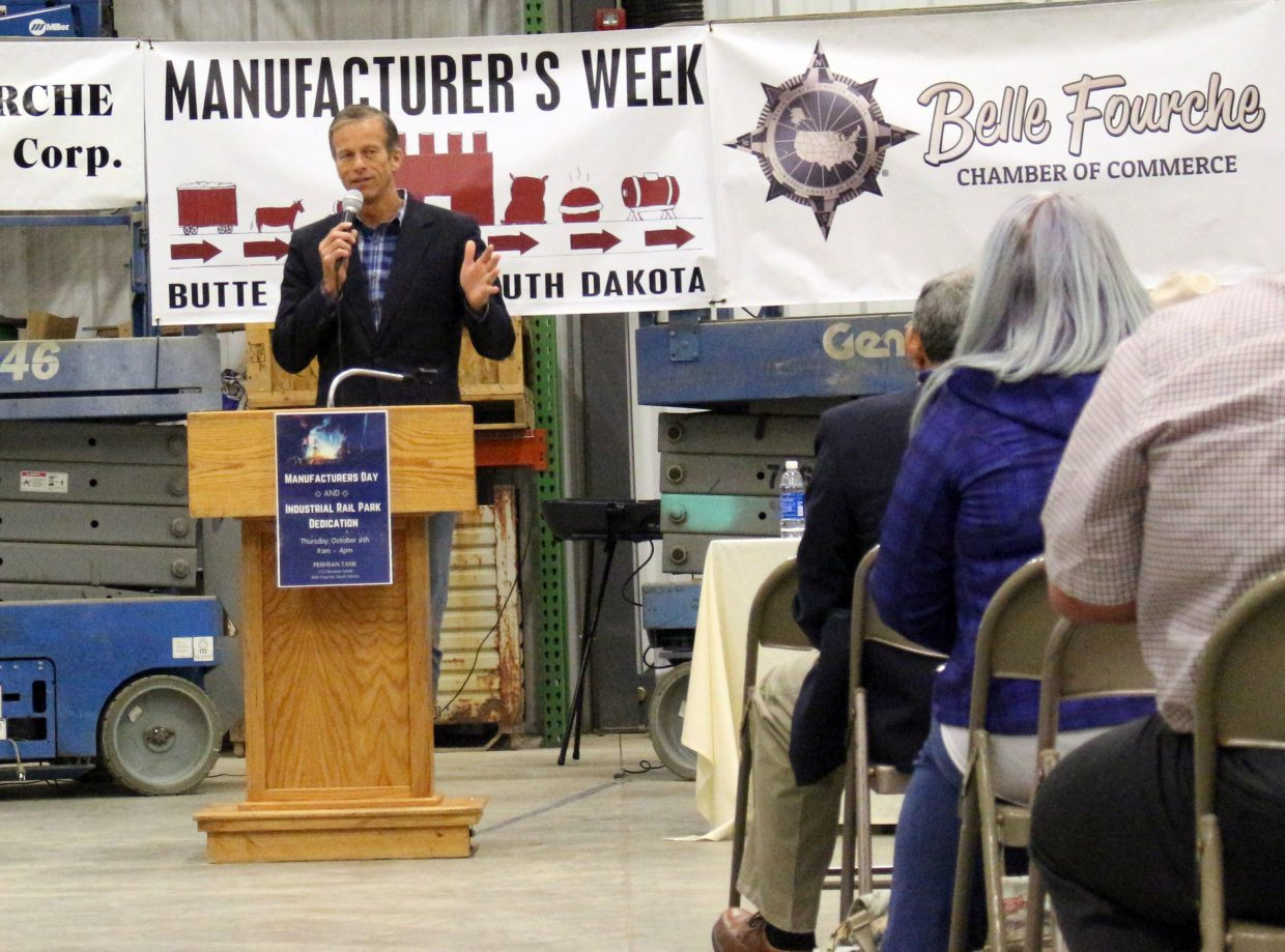 Senator John Thune (R-S.D.) said the state's rail system is important to its economic success.