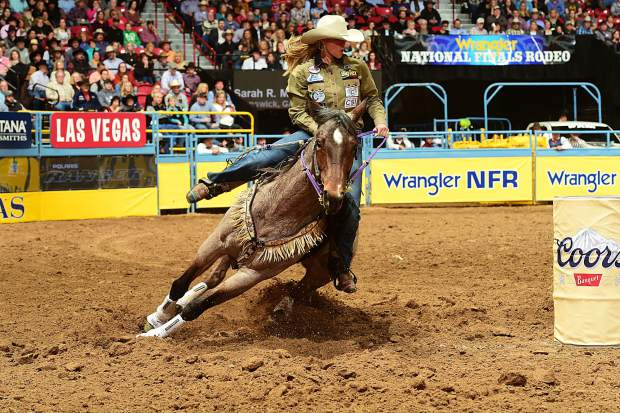 """""""It was so thrilling to be on her back! She got down low, kept a low head set, and left the barrel hard. When she went in the arena, she wanted to win and she hustled hard."""" - Sarah Rose McDonald about her horse, Bling"""