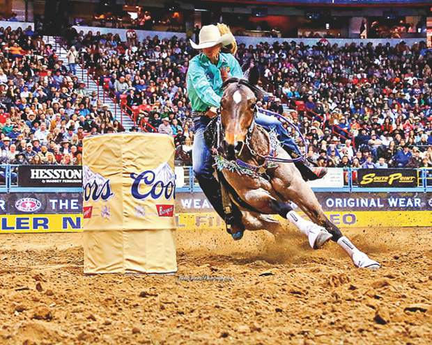 Sarah Rose McDonald has four colts out of her legendary mare, Bling. WPRA photo by Jackie Jensen