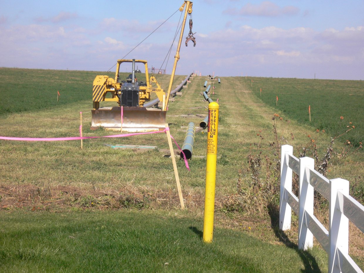 oil pipeline that was the subject of an eminent domain battle