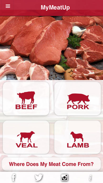 Many types of meats are available to find their origin on