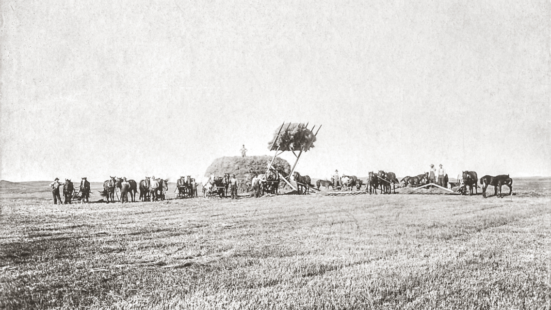 The Eatinger hay crew in the 1920s. Courtesy photo.