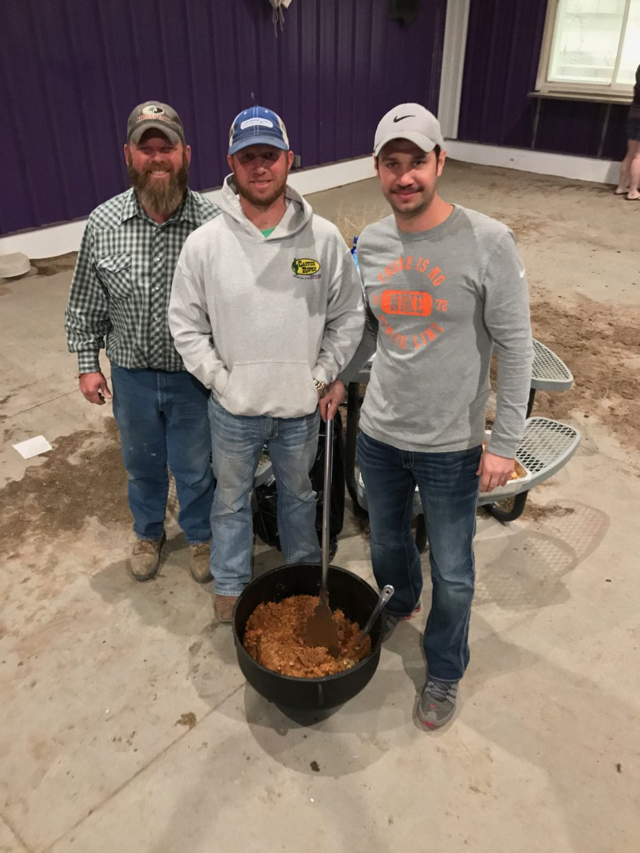These gentlemen brought a load of supplies from Louisiana and fixed dinner for everyone one night.