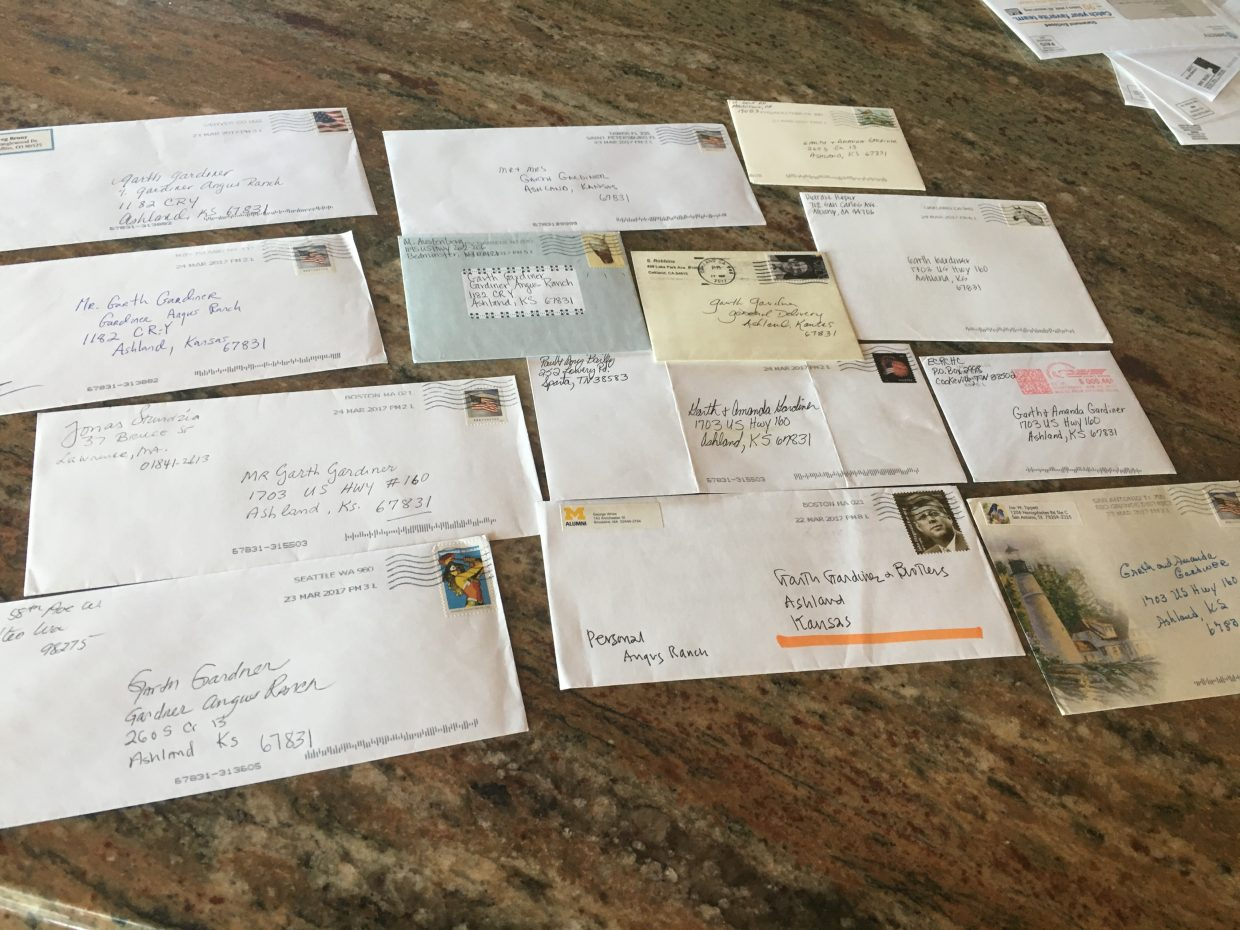 Gardiners received letters of encouragement from all over the United States.