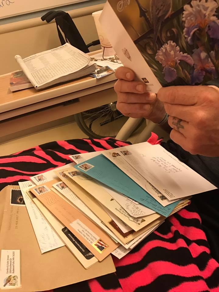 """Vern received more than 300 cards and letters while he was in the hospital—a show of support he calls """"humbling."""""""