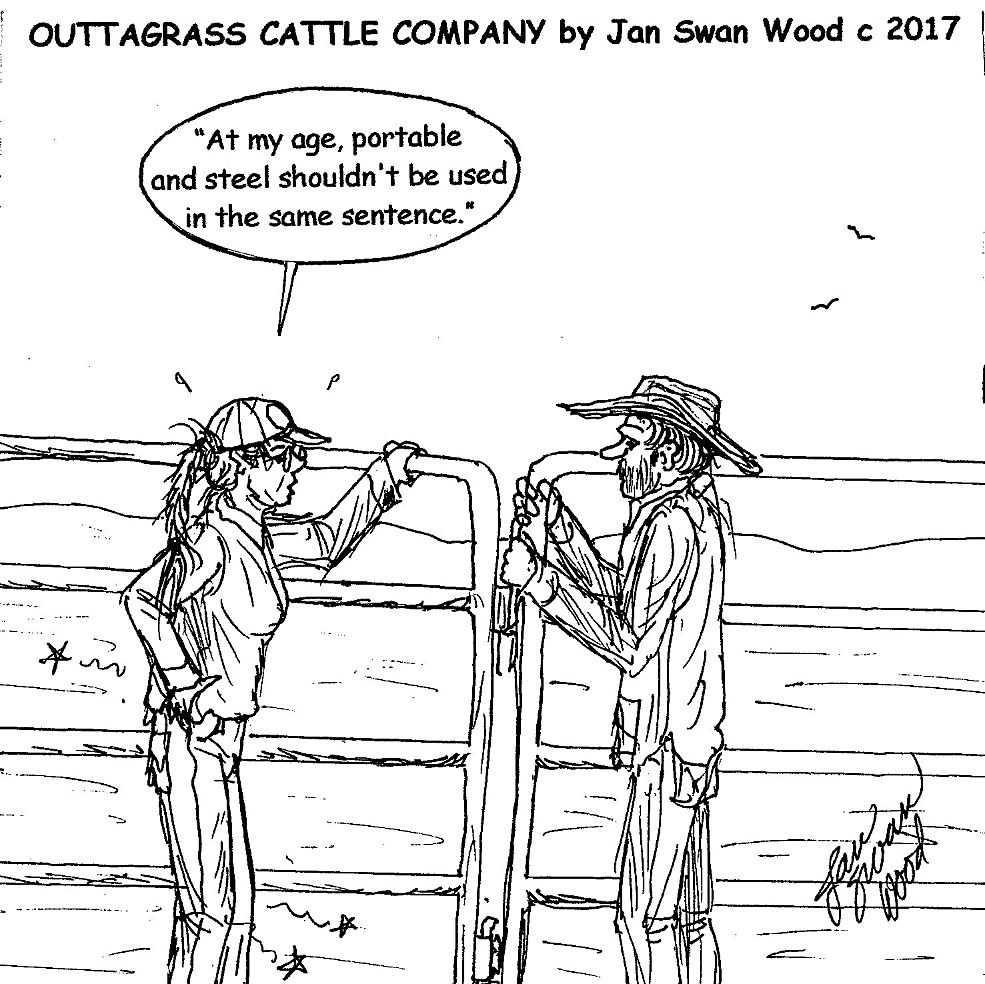 197d730dc28 Outtagrass cattle co cartoon jan swan wood for the oct edition of tri state  livestock news