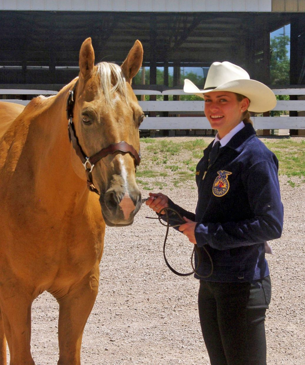 Laura Chord and her gelding Trigger were very successful in many 4-H and FFA ranch horse shows and rodeos. She passed away in 2016. Photo courtesy Chord family