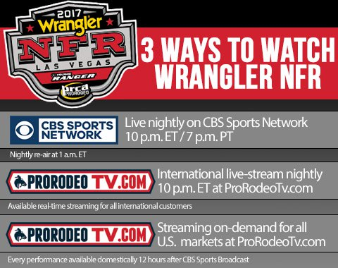 2017 Wrangler National Finals Rodeo Results Round 3