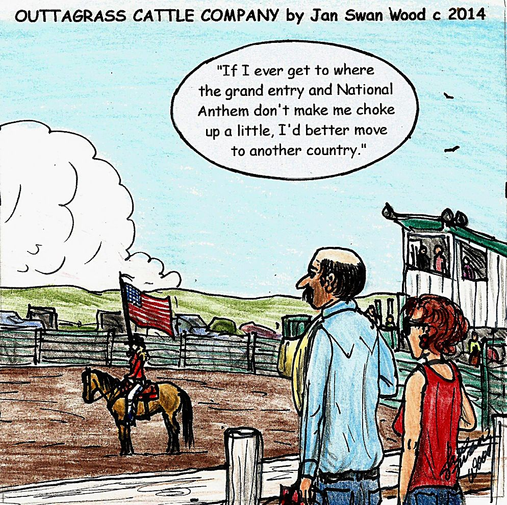 e1eeb146522 Outtagrass cattle co cartoon jan swan wood for the june edition of tri  state livestock news