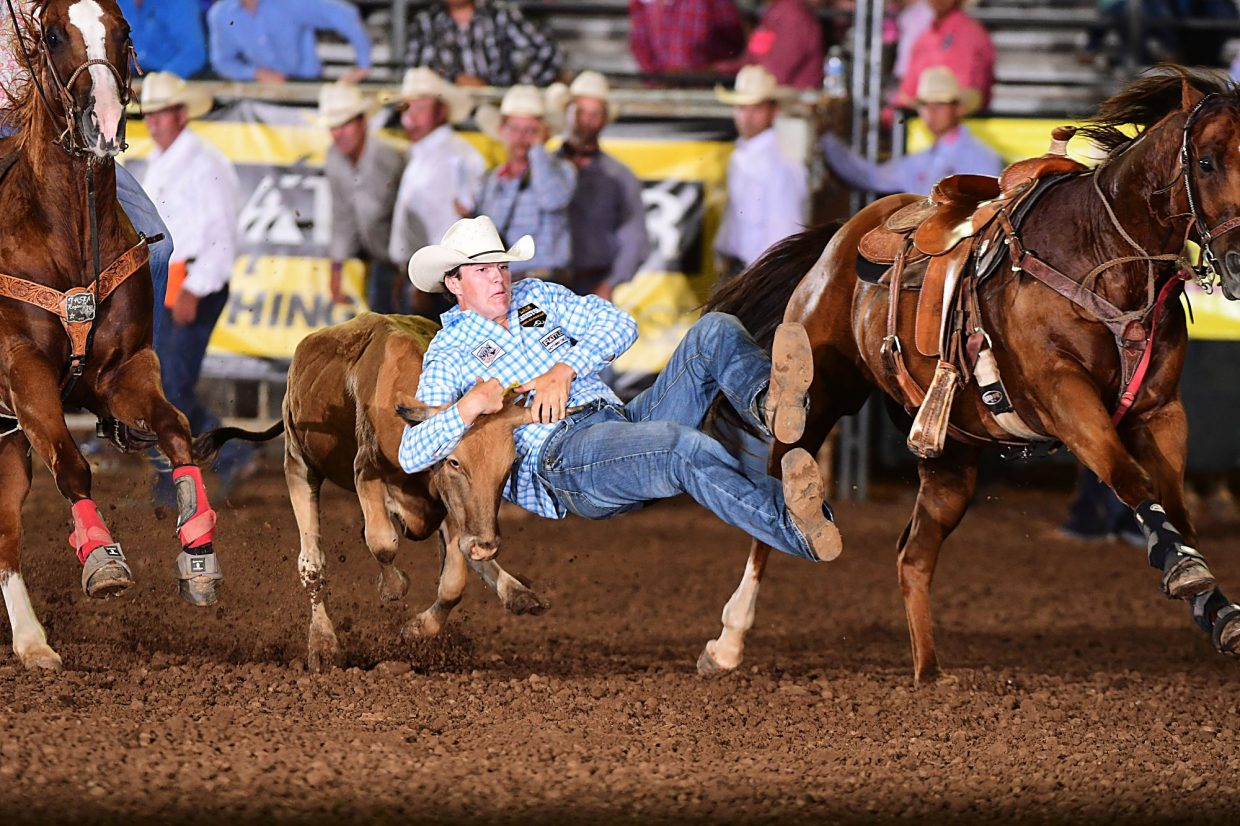 Quade Hiatt has punched his ticket to the first ever Junior American, to be held in conjunction with the American in Arlington, Texas next March. Hiatt competed at the first qualifier for the Junior American, the International Finals Youth Rodeo in Shawnee, Okla. in July. Photo courtesy IFYR/RodeoBum.com