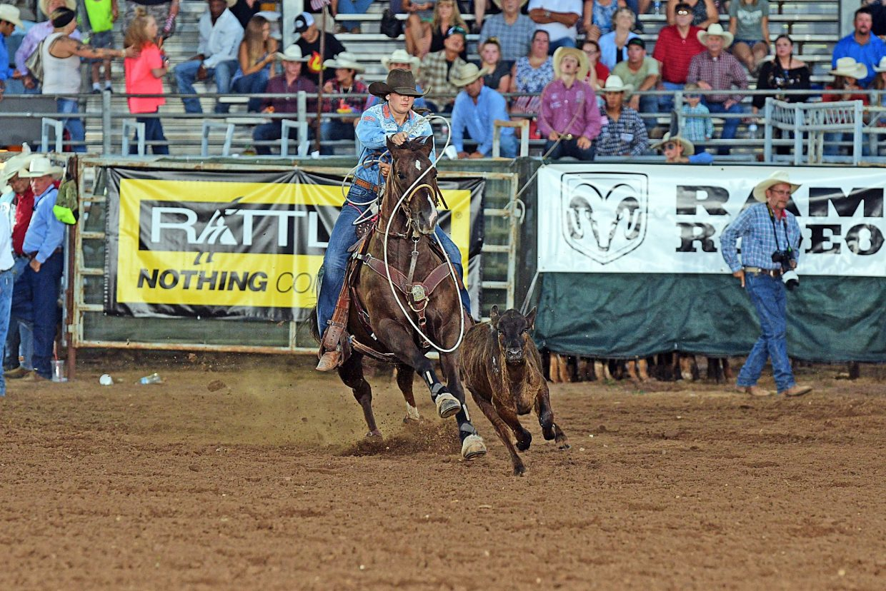 Cashen Turner secured her spot at the Junior American semi-finals with her fast time at the International Finals Youth Rodeo in Shawnee, Okla. The IFYR was the first qualifier for the Junior American, which will be held in conjunction with the American in March. Photo courtesy IFYR/RodeoBum.com