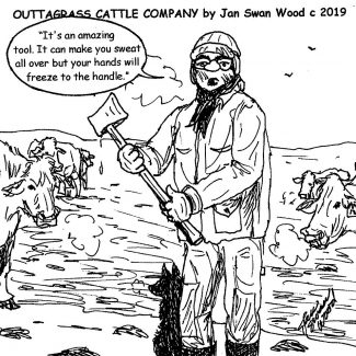 Outtagrass Cattle Co cartoon by Jan Swan Wood