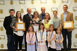 """Words and Deeds earn Streff family """"FFA Family of the Year"""" Award"""