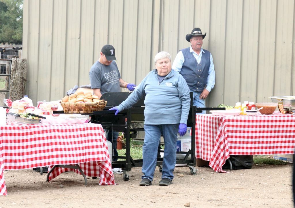 CAB burgers were on the menu - made with real beef - at the Baker's LeMar Angus stop.